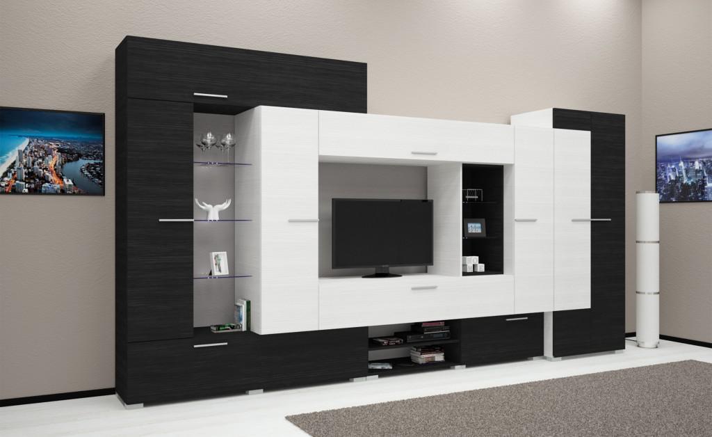Komfort szekrénysor 405 cm LED-világítással (DIV)
