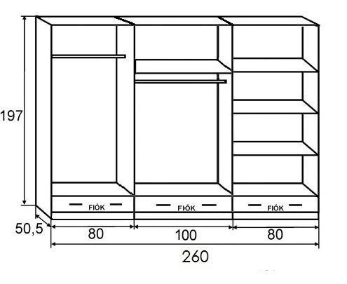z n 6 os 260 as gardr bszekr ny ft. Black Bedroom Furniture Sets. Home Design Ideas